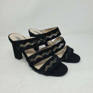 Cole Haan Size 8.5 Emilia Sandal Black Suede Slide
